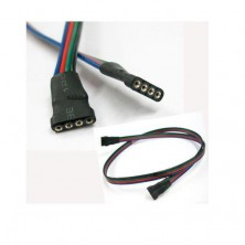 Propojovací kabel pro RGB LED pásky SMD3528, SMD5050 + dárek Silikonové náramkové hodinky - digitální černé zdarma