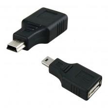 Redukce, adaptér USB 2.0 na USB mini + dárek Silikonové náramkové hodinky - digitální modré zdarma