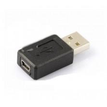 Adaptér, redukce USB 2.0/USB mini (samice) + dárek Silikonové náramkové hodinky - digitální černé zdarma