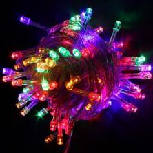 Vánoční osvětlení na stromeček 100x LED, 10m RGB + dárek Silikonové náramkové hodinky - digitální černé zdarma