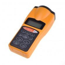 Ultrazvukový měřič vzdálenosti s laserovým zaměřovačem + dárek Silikonové náramkové hodinky - digitální černé zdarma