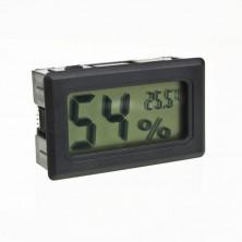 Digitální teploměr, vlhkoměr do auta + dárek Silikonové náramkové hodinky - digitální černé zdarma